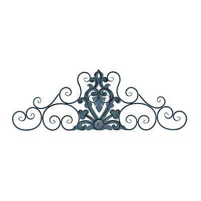 Nila Blue Scroll Metal Plaque