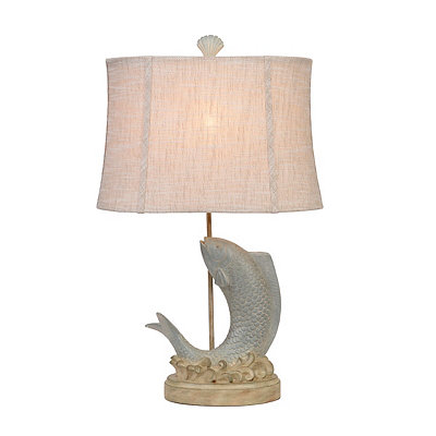 Misty Blue Fish Table Lamp