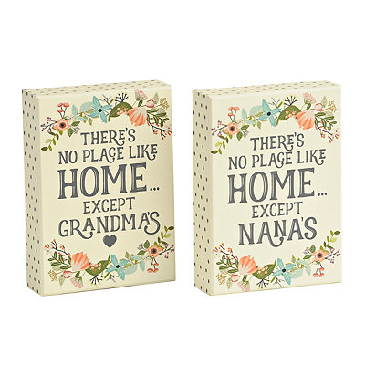 Floral There's No Place Like Home Wooden Plaque
