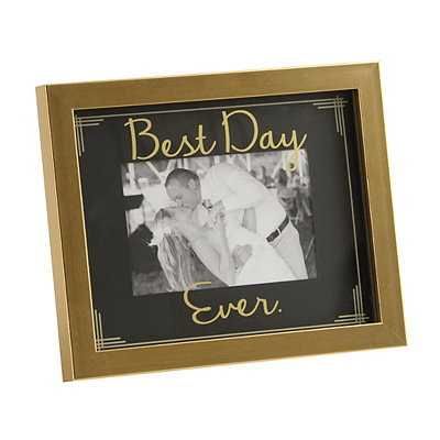 Black and Gold Best Day Ever Picture Frame, 4x6