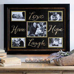 Gold Love Hope Laugh Home Collage Frame