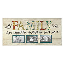 Family Happily Ever After 3-Opening Collage Frame