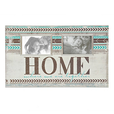 Turquoise Home 2-Opening Collage Frame