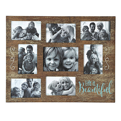 Life is Beautiful 8-Opening Collage Frame