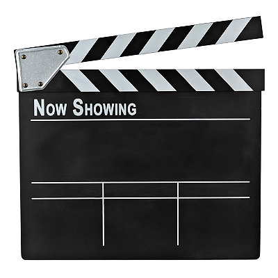 Chalkboard Movie Clapboard Plaque
