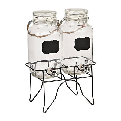 Newcastle Chalkboard Beverage Dispensers, Set of 2