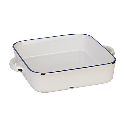 Vintage White & Blue Square Baking Dish