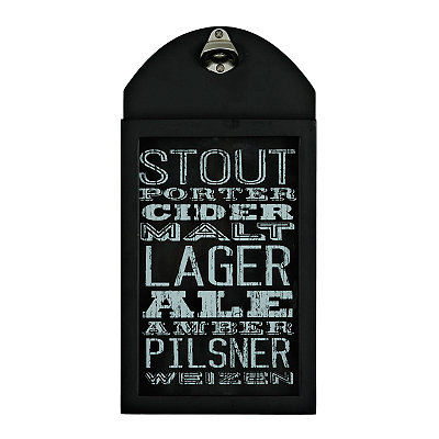 Black Typography Beer Bottle Opener