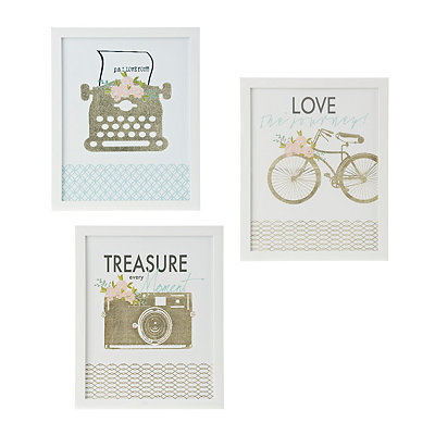 Gold Foil Vintage Icon Framed Art Prints