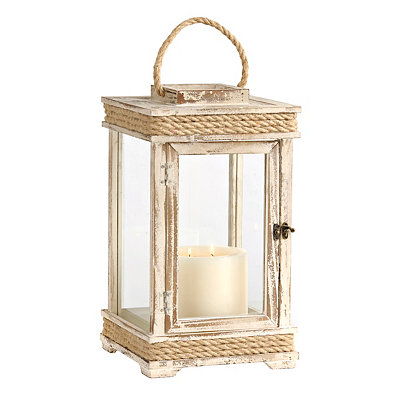 Distressed Tan Lighthouse Lantern