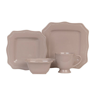 Taupe Bistro 16-pc. Dinnerware Set