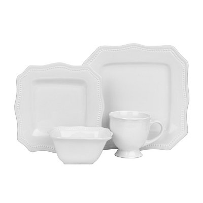 White Bistro 16-pc. Dinnerware Set