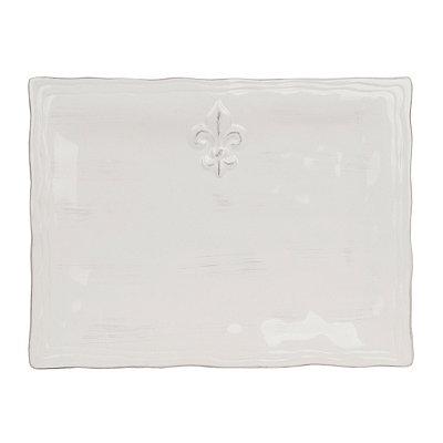 Large Fleur-de-lis Ceramic Platter