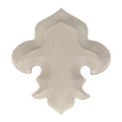Taupe Fleur-de-lis Platter