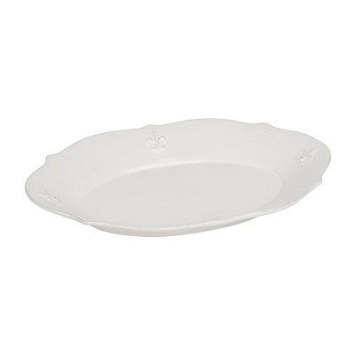 White La Fleur Oval Platter