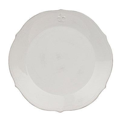 White La Fleur Round Platter
