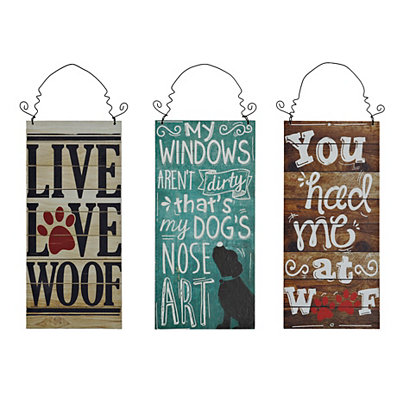 Dog Lover Sentiments Wooden Plaque