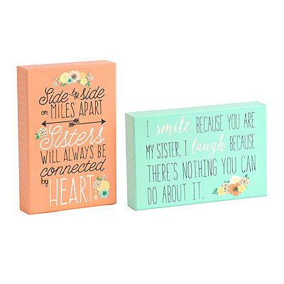 Floral Sisters Wooden Plaque