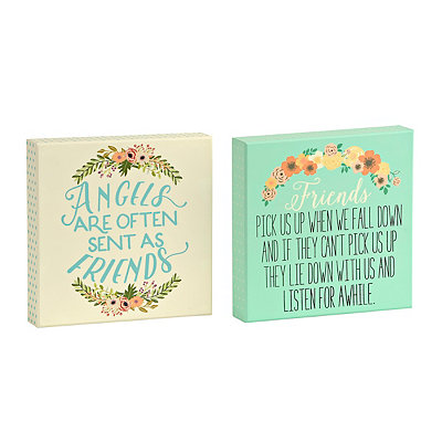 Floral Friends Wooden Plaque