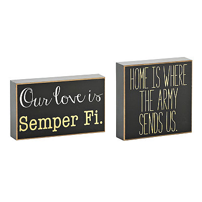 Military Love Wooden Plaques