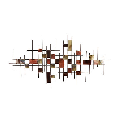Abstract Squares Metal Plaque