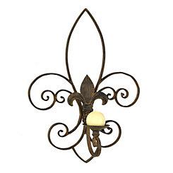 Rustic Fleur-de-Lis Sconce