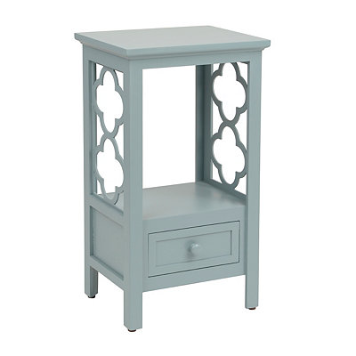 Turquoise Clover Accent Table