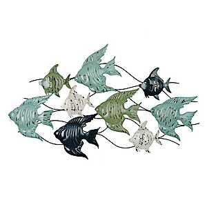 Angel Fish Metal Plaque