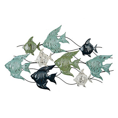 Angel Fish Metal Plaque