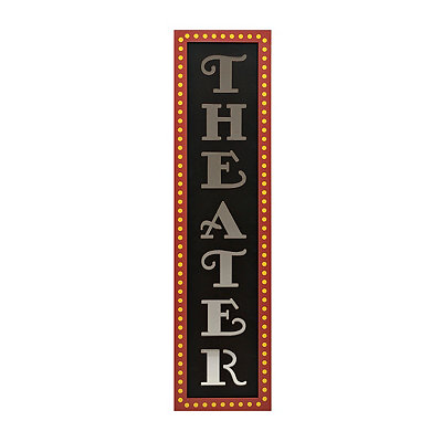 Mirrored Theater Wall Plaque