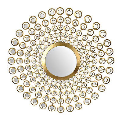 Gold Mirrored Sunburst Mirror