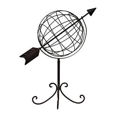 Spinning Metal Globe Statue