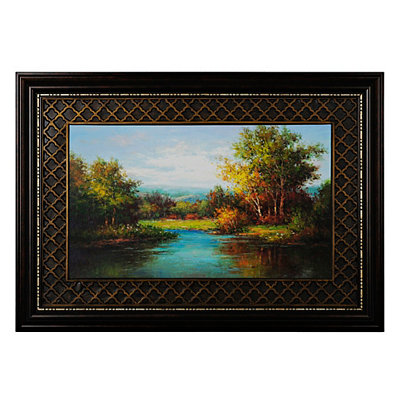 Woodland Stream Framed Art Print