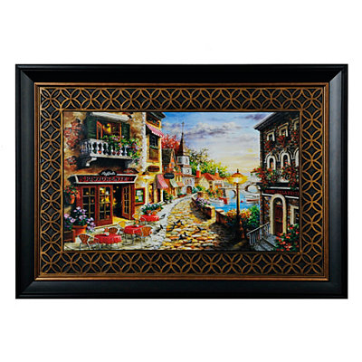 Café by the Sea Framed Art Print