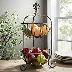 2-Tier Fleur-de-lis Fruit Basket