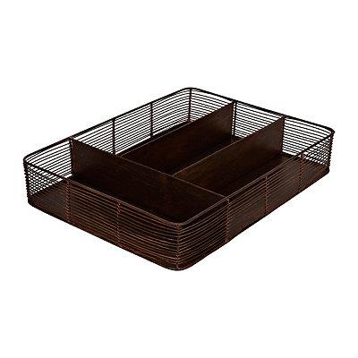 Copper Flatware Organizer Tray