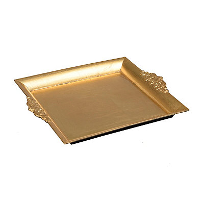 Gold Baroque Square Tray