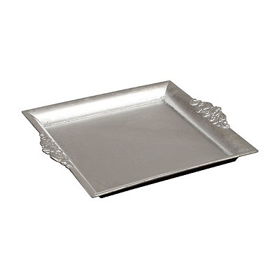 Silver Baroque Square Tray