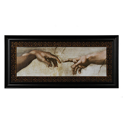 The Creation of Adam Framed Art Print