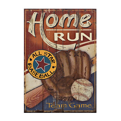 Baseball All Star Wooden Plaque