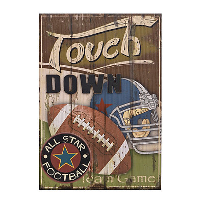 Football All Star Wooden Plaque