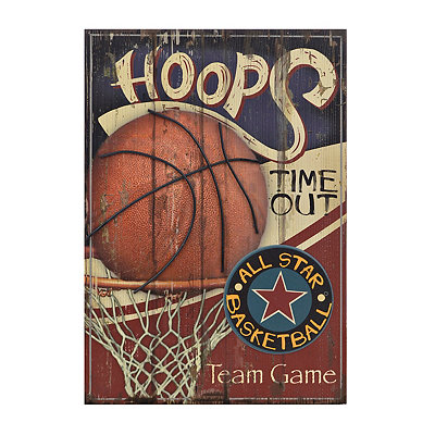 Basketball All Star Wooden Plaque