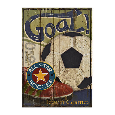 Soccer All Star Wooden Plaque