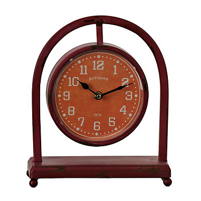 Distressed Red Colorburst Desktop Clock