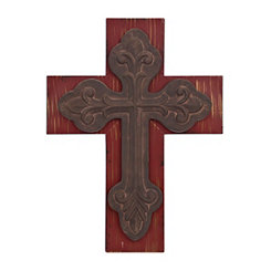 Distressed Red Rustic Cross