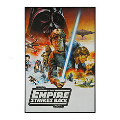Empire Strikes Back Poster Framed Art Print