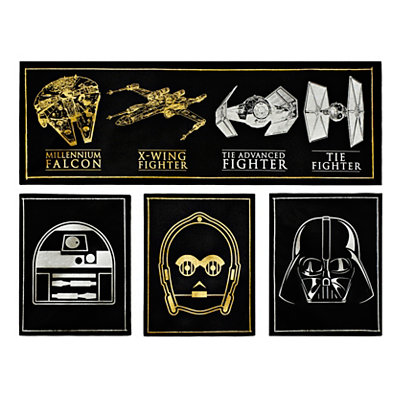 Metallic Star Wars Canvas Art Prints, Set of 4
