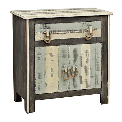 Distressed Coastal Cabinet