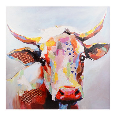 Betsy Cow Canvas Art Print, 36x36