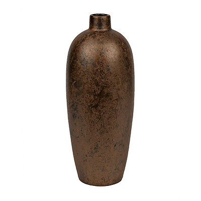 Brushed Copper Ceramic Vase